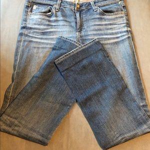 AG Ballad Slim Boot Med. Wash Distressed Jean (30)